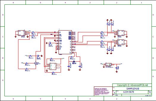 Sample USB 2.0 Hub Schematic